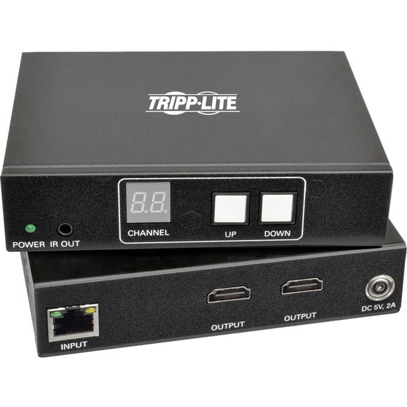 Tripp Lite 2-Port HDMI Over IP Extender Kit w- RS-232 Serial & IR Control TAA