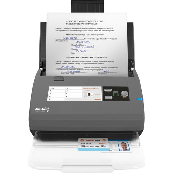 Ambir ImageScan Pro 830ix Sheetfed Scanner - 600 dpi Optical
