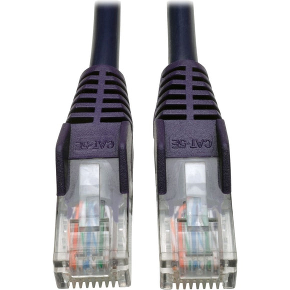 Tripp Lite 3ft Cat5 Cat5e Snagless Molded Patch Cable UTP Purple RJ45 M-M 3'
