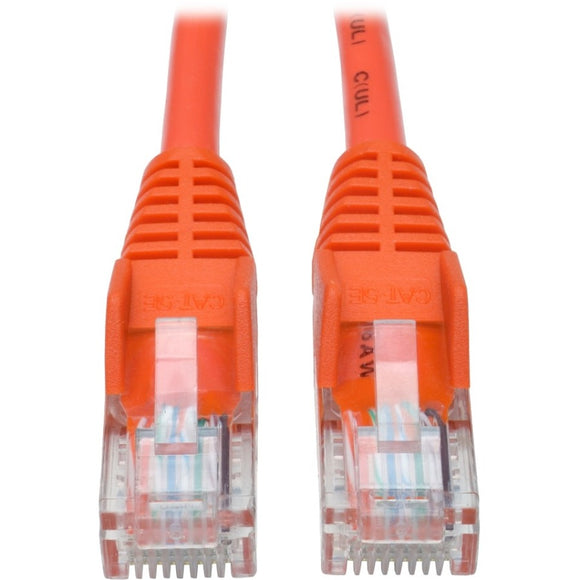 Tripp Lite 5ft Cat5 Cat5e Snagless Molded Patch Cable UTP Orange RJ45 M-M 5'