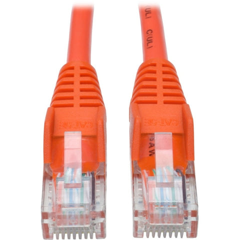 Tripp Lite 5ft Cat5 Cat5e Snagless Molded Patch Cable UTP Orange RJ45 M-M 5' -> May Require up to 5 Business Days to Ship