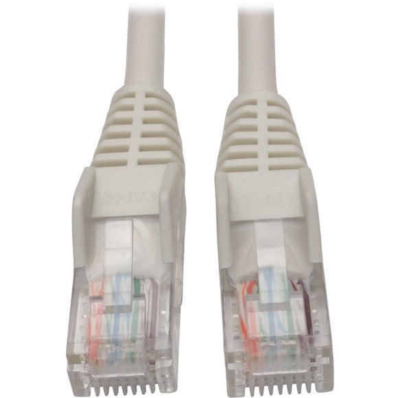 Tripp Lite 5ft Cat5 Cat5e Snagless Molded Patch Cable UTP White RJ45 M-M 5' -> May Require up to 5 Business Days to Ship