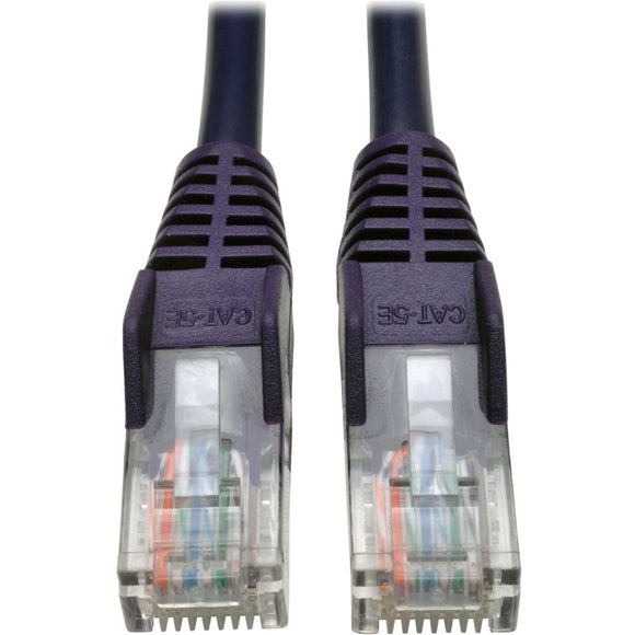 Tripp Lite 25ft Cat5 Cat5e Snagless Molded Patch Cable UTP Purple RJ45 M-M 25' -> May Require up to 5 Business Days to Ship