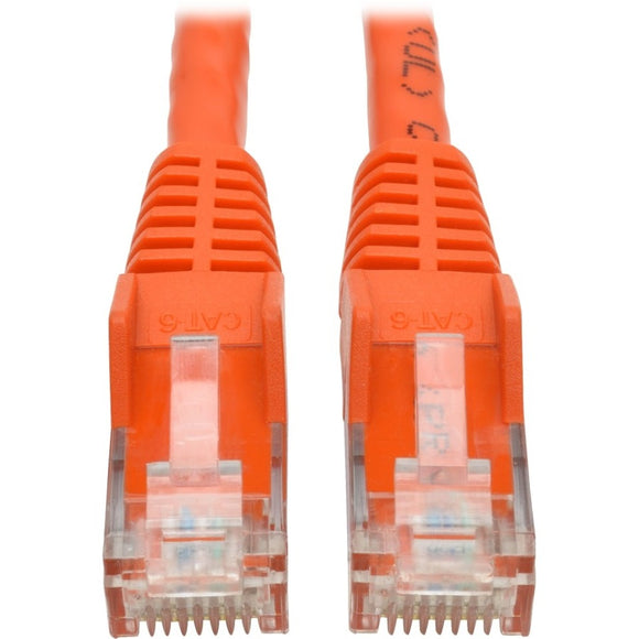 Tripp Lite 1ft Cat6 Snagless Molded Patch Cable UTP Orange RJ45 M-M 1'