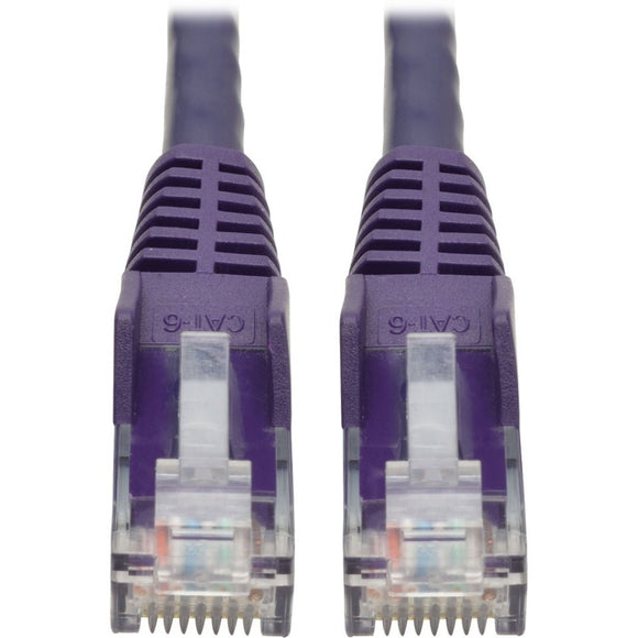 Tripp Lite 1ft Cat6 Snagless Molded Patch Cable UTP Purple RJ45 M-M 1'