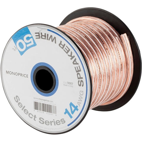 Monoprice Select Series 14AWG Speaker Wire, 50ft