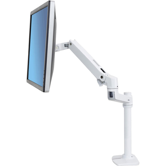 Ergotron Lx Desk Mount Lcd Monitor Arm, Tall Pole, Bright White Textured, No Grommet