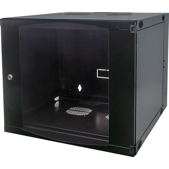 Intellinet Network Solutions 19 Inch Double Section Wallmount Cabinet, 12U, 23.62 Inch (600 mm) Depth, Flatpacked, Black