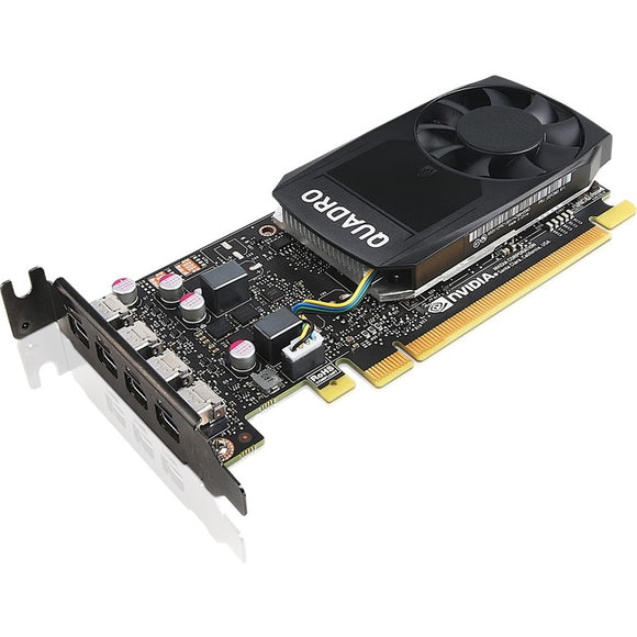 Lenovo Quadro P1000 Graphic Card - 4 GB GDDR5 - Low-profile
