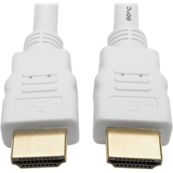 Tripp Lite High Speed HDMI 4K Cable Ultra HD Digital Video M-M White 10ft