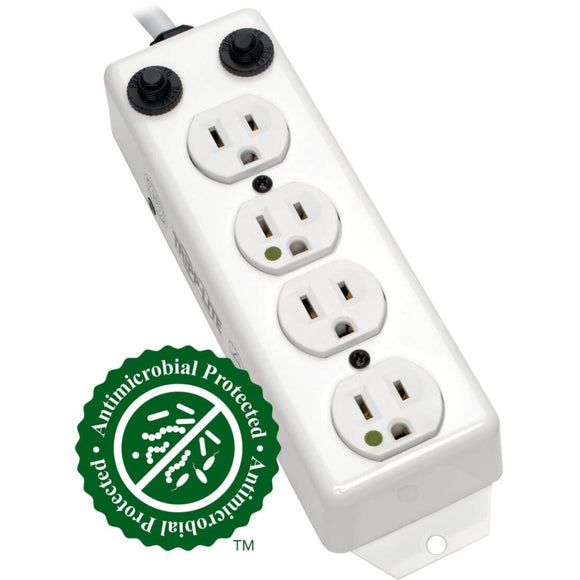 Tripp Lite Power Strip Medical Hospital Grade UL1363A 4 Outlet 15A 7ft Cord