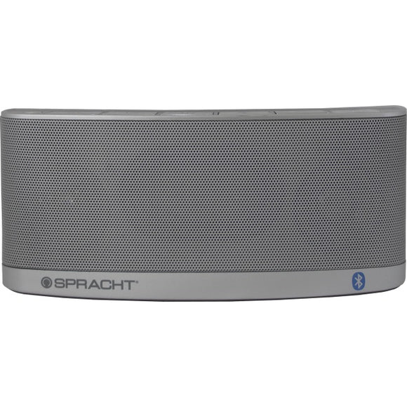 Spracht Blunote2.0 Speaker System - 10 W RMS - Wireless Speaker(s) - Portable - Battery Rechargeable - Silver