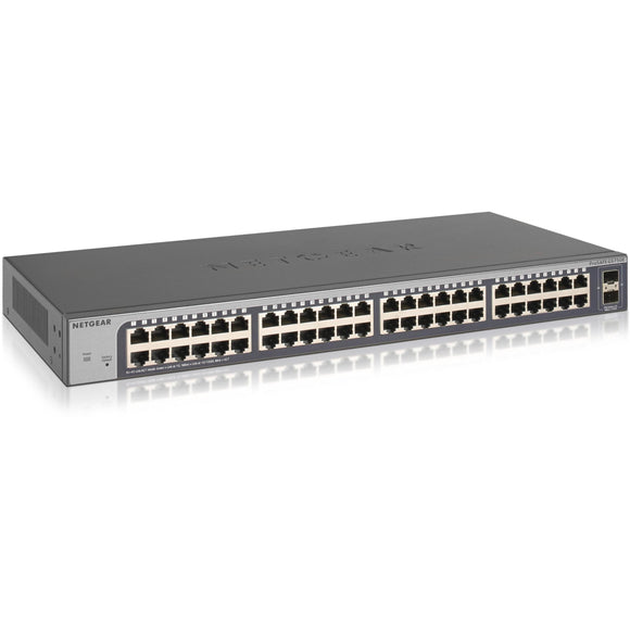 Netgear 48-port Gigabit Smart Managed Plus Switch with 2 SFP Ports (GS750E)