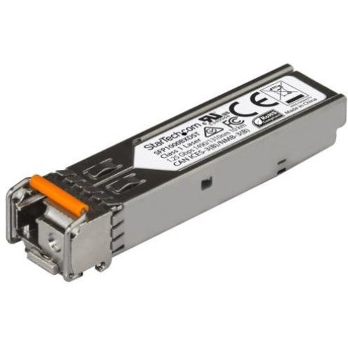 StarTech.com 1000BASE-BX MSA Compliant Downstream SFP Module - LC Connector - Fiber SFP Transceiver - Lifetime Warranty - 1 Gbps - Max. Transfer Distance 10 km (6.2 mi)