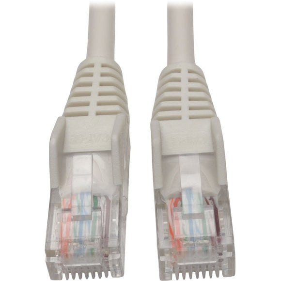 Tripp Lite Cat5e 350 MHz Snagless Molded UTP Patch Cable (RJ45 M-M), White, 15 ft.
