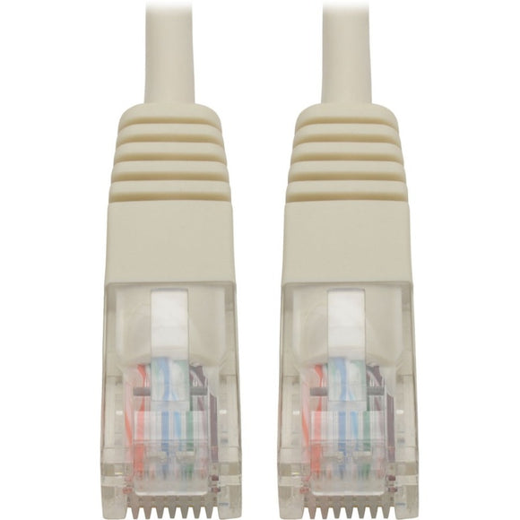 Tripp Lite Cat5e 350 MHz Molded UTP Patch Cable (RJ45 M-M), White, 15 ft.