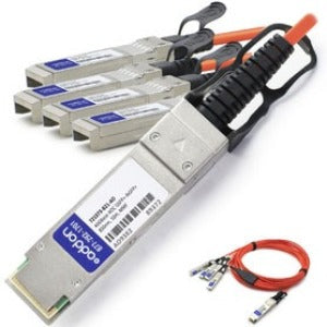 AddOn HP 721073-B21 Compatible TAA Compliant 40GBase-AOC QSFP+ to 4xSFP+ Direct Attach Cable (850nm, MMF, 10m)