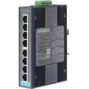 Advantech 8-port Industrial Unmanaged GbE Switch W-T