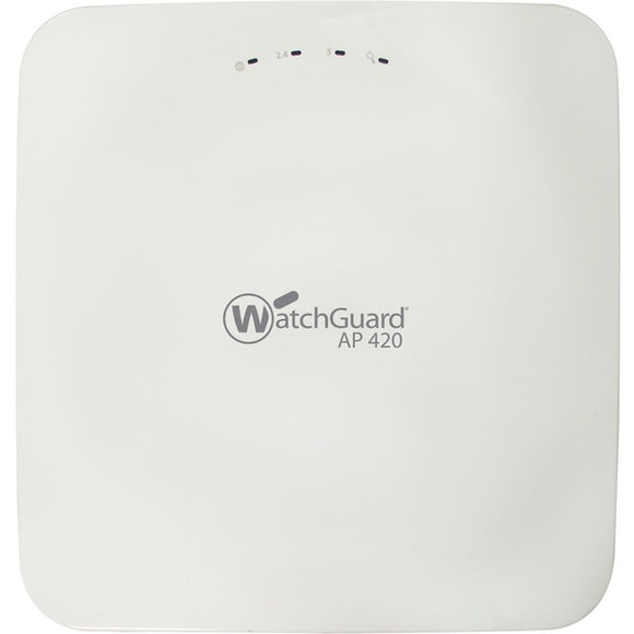 COMPETITIVE TRADE IN TO WATCHGUARD AP420 AND 3-YR SEC WLS IEEE 802.11AC 2.44 GBIT-S WIRELESS ACCESS POINT - 5 GHZ; 2.40 GHZ - MIMO TECHNOLOGY - 2 X NETWORK (RJ-45) - GIGABIT ETHERNET - CEILING MOUNTABLE; WALL MOUNTABLE