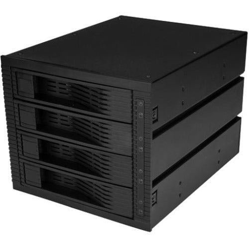 StarTech.com 4 Bay 3.5in SATA SAS Backplane - Hot Swap Mobile Rack for 3 5.25in Bays - Trayless - HDD Rack - SAS Backplane - SATA Backplane