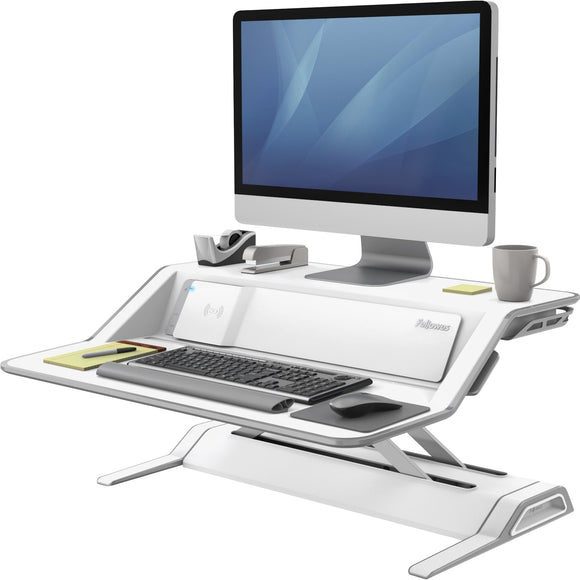 Fellowes Lotus'Ñ¢ DX Sit-Stand Workstation - White