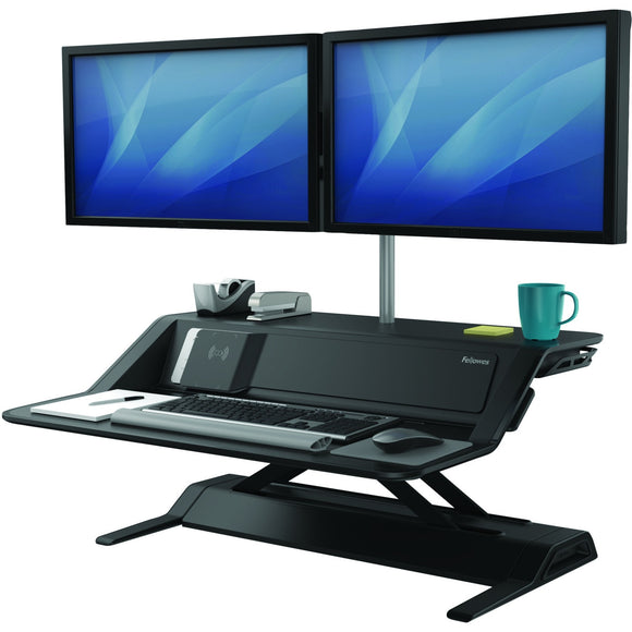 Fellowes Lotus'Ñ¢ DX Sit-Stand Workstation - Black