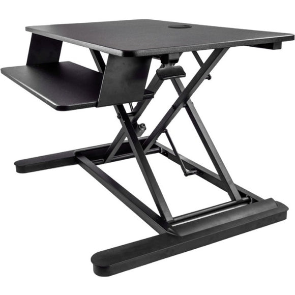 StarTech.com Sit Stand Desk Converter - Large 35in Work Surface - Adjustable Stand up Desk - For Two Monitors up to 24