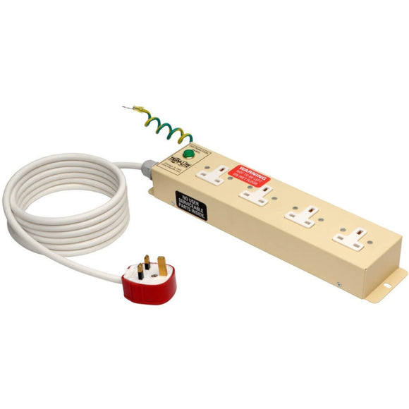 Tripp Lite UK BS-1363 Medical-Grade Power Strip with 4 UK Outlets, 3m Cord ->  -> May Require Up to 5 Business Days to Ship -> May Require up to 5 Business Days to Ship