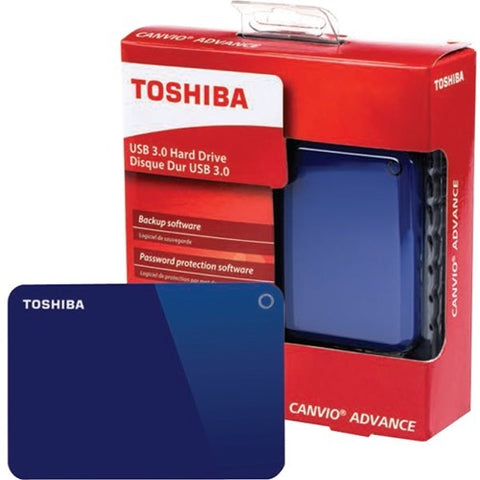 "Toshiba Canvio Advance 1 TB Hard Drive - 2.5"" Drive - External - Portable - Blue"