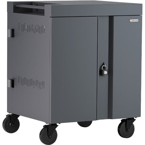 Bretford CUBE Cart 36, AC Charging, Charcoal Paint
