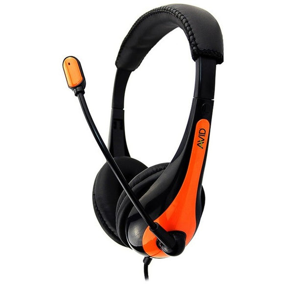AVID AE-36 HEADSET WITH NOISE CANCELLING MIC & 3.5MM PLUG ORANGE