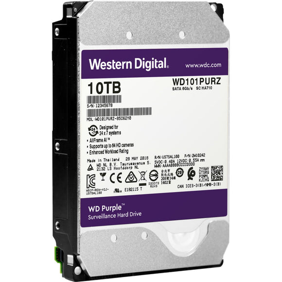 Western Digital Wd Purple 10tb 7200rpm Sata 6gb-s3.5inch