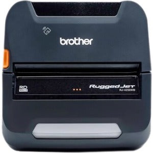 Brother RuggedJet RJ4250WBL Direct Thermal Printer - Monochrome - Portable - Label-Receipt Print