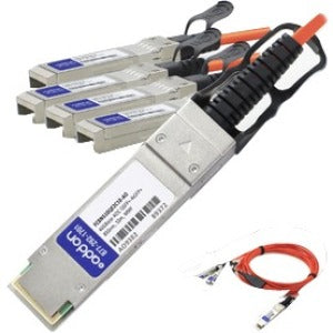 AddOn Finisar FCBN510QE2C10 Compatible TAA Compliant 40GBase-AOC QSFP+ to 4xSFP+ Direct Attach Cable (850nm, MMF, 10m)