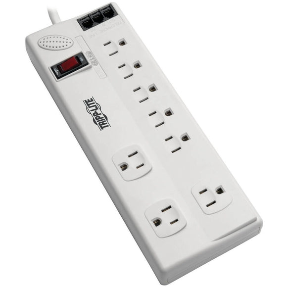 Tripp Lite Surge Protector Power Strip 8 Outlet 6ft Cord Tel-DSL 3150 J TAA
