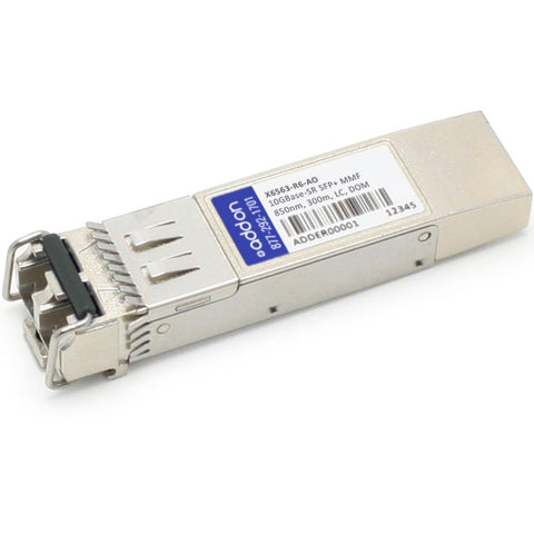 AddOn NetAPP X6563-R6 Compatible TAA Compliant 10GBase-SR SFP+ Transceiver (MMF, 850nm, 300m, LC, DOM)