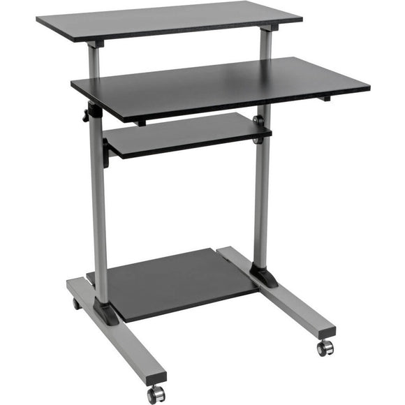 Tripp Lite Rolling Standing Desk-Workstation on Wheels, Height Adjustable, Mobile