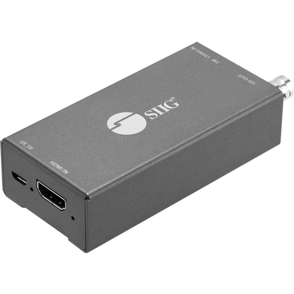 SIIG HDMI to 3G-HD-SD-SDI with Audio Embedder Mini Converter