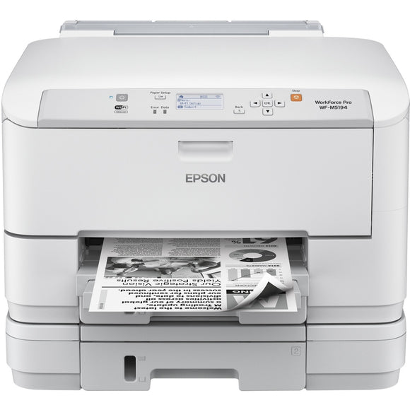 Epson WorkForce Pro WF-M5194 Inkjet Printer - Monochrome - 1200 x 2400 dpi Print - Plain Paper Print - Desktop