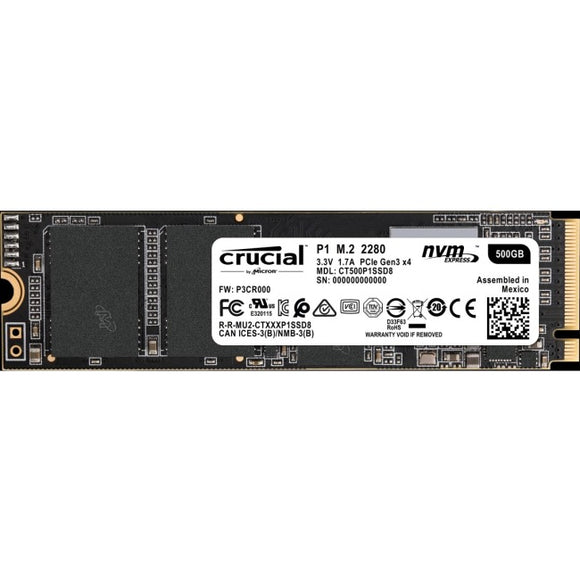 Crucial Client 500 GB Solid State Drive - PCI Express (PCI Express 3.0 x4) - Internal - M.2 2280