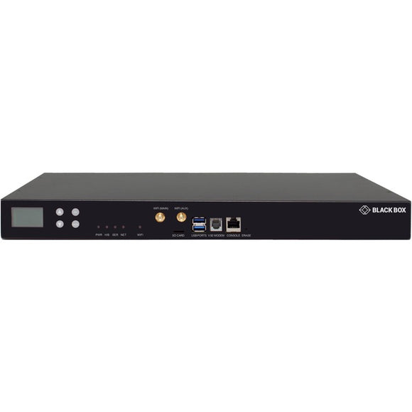 Black Box LES1700 Series Console Server - WiFi, POTS Modem, Dual 10-100-1000, 8-Port