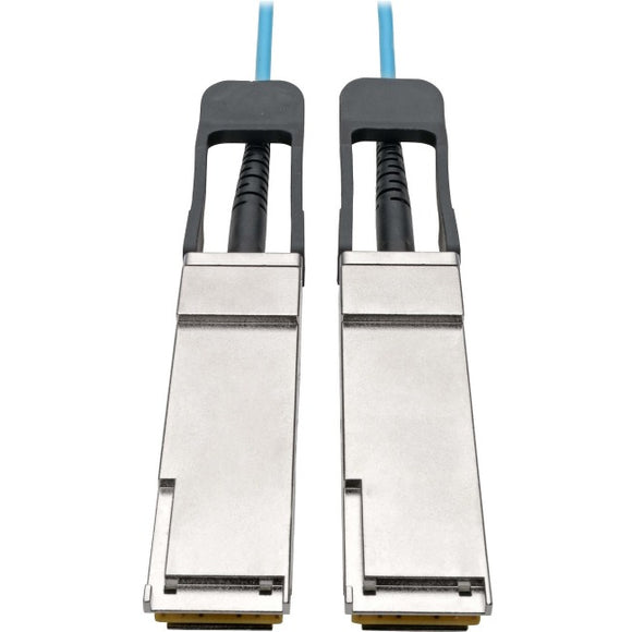 Tripp Lite QSFP+ to QSFP+ Active Optical Cable - 40Gb, AOC, M-M, Aqua, 1 m (3 ft.)