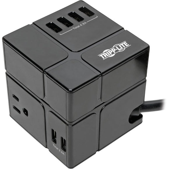 Tripp Lite Protect It! TLP366CUBEUSBB Surge Suppressor-Protector