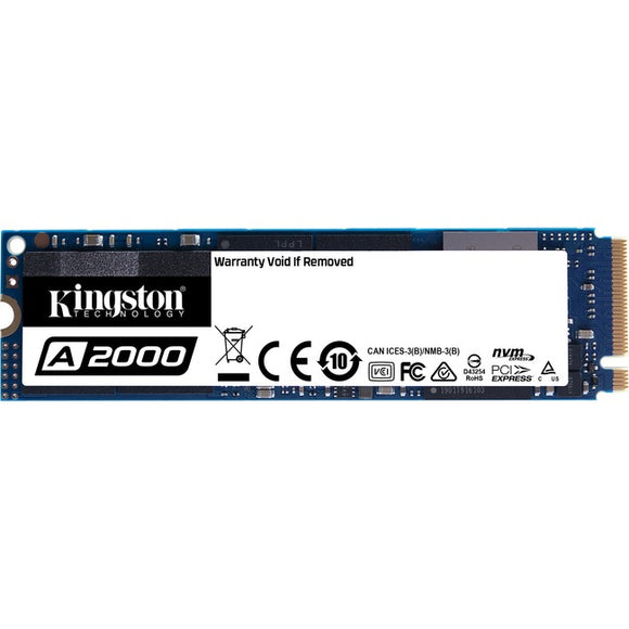 Kingston A2000 250 GB Solid State Drive - M.2 2280 Internal - PCI Express (PCI Express 3.0 x4)