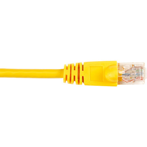 Black Box CAT6 Value Line Patch Cable, Stranded, Yellow, 1-ft. (0.3-m), 25-Pack