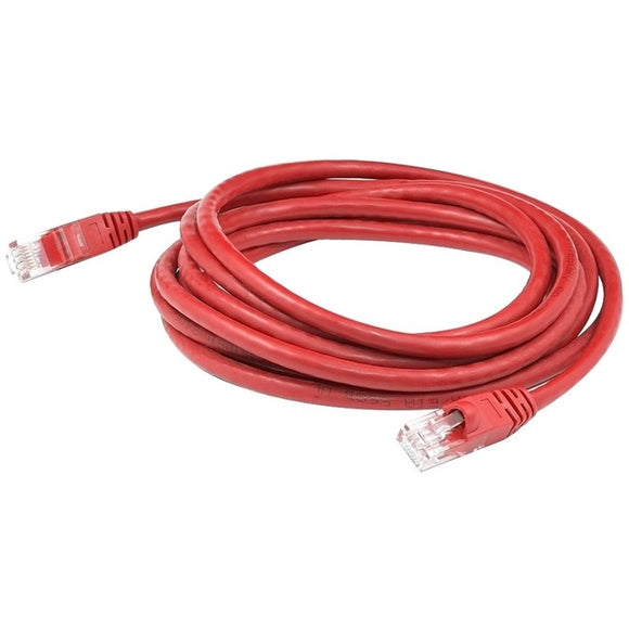 AddOn 25ft RJ-45 (Male) to RJ-45 (Male) Red Microboot, Snagless Cat6A UTP PVC Copper Patch Cable