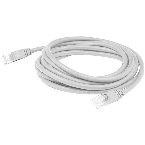 AddOn 15ft RJ-45 (Male) to RJ-45 (Male) White Cat6A UTP PVC Copper Patch Cable