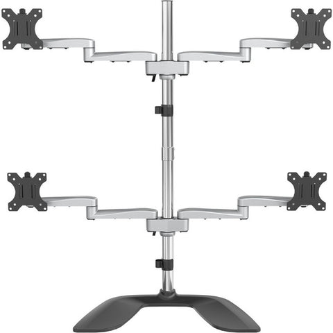 "StarTech.com Quad-Monitor Stand - For up to 32"" VESA Mount Monitors - Articulating - Steel & Aluminum Four Monitor Mount (ARMQUADSS)"