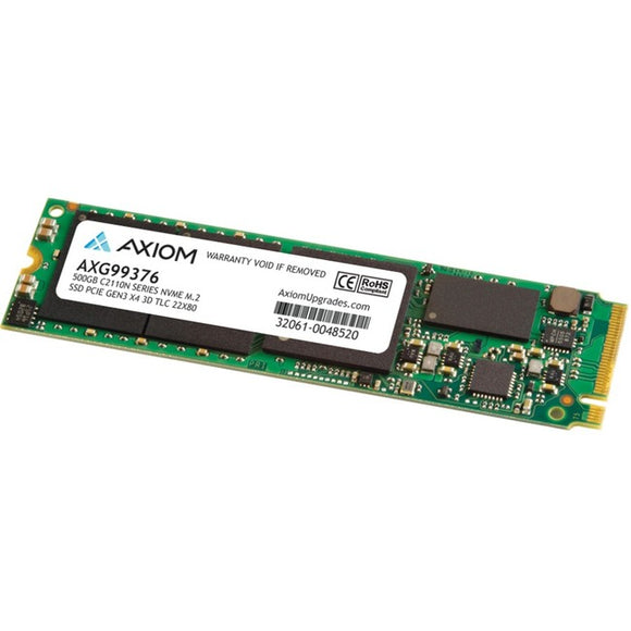 Axiom C2110n 500 GB Solid State Drive - M.2 2280 Internal - PCI Express NVMe (PCI Express NVMe 3.0 x4) - TAA Compliant