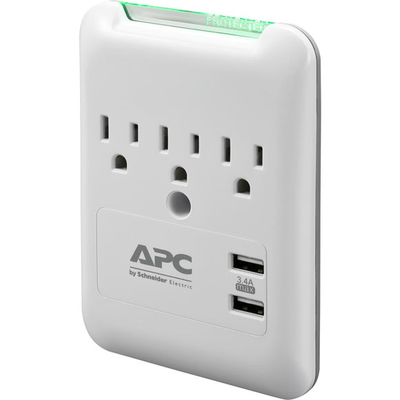 APC by Schneider Electric SurgeArrest Essential 3-Outlet Surge Suppressor-Protector